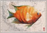 angel fish on old chart